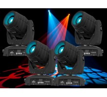 Intimidator 350 Spot 75W LED Moving Head Package: 4 x int350s