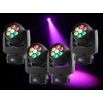 Intimidator Wash Zoom 350 Moving Head - 7 x 20W RGBW QUAD LEDs Package: 4 x int350wz