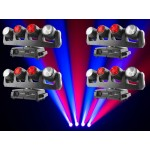 Intimidator Wave 360 - 4 x 12W RGBW LED Moving Heads on one moving base Package: 4 x intwave360