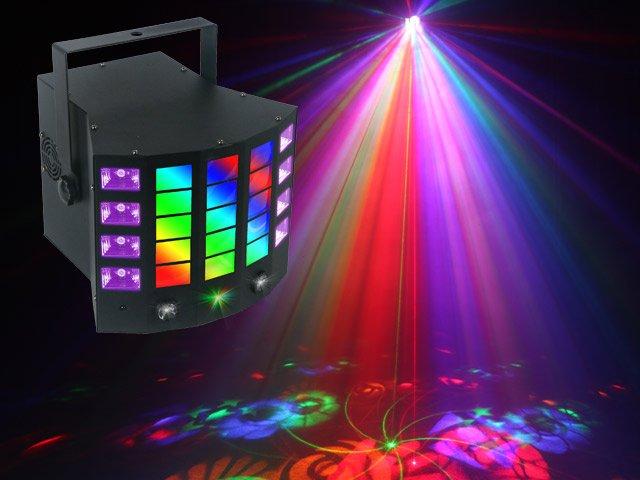 Light Emotion DERBY4 4-in-1 Lighting Effect: Gobo Derby, UV